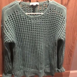 Teal sweater small